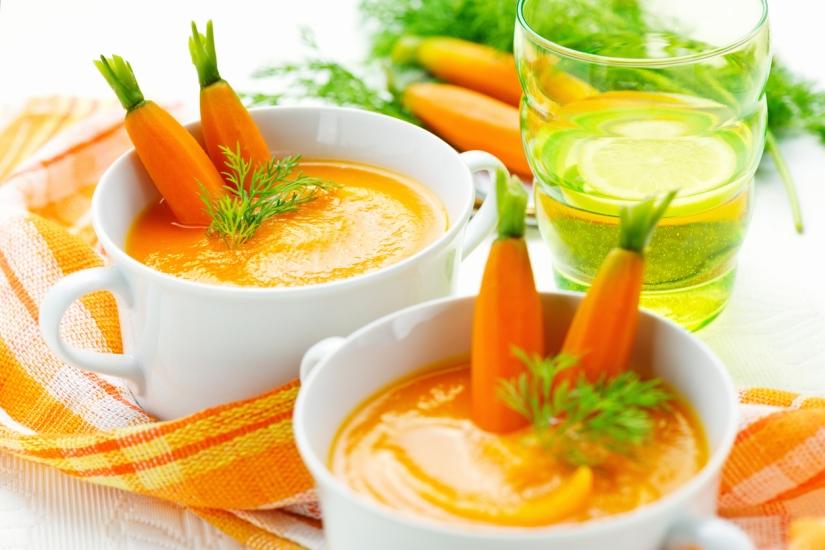 Healthy vegetarian soup puree