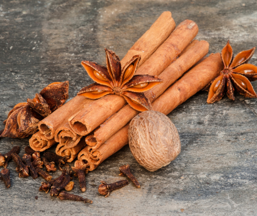 cinnamon cloves nutmeg
